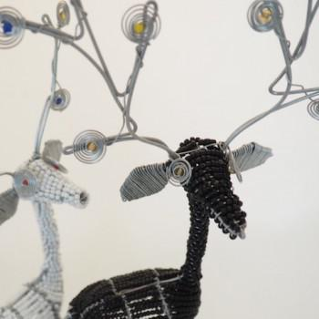 PP Lite reinsdyr av glassperler